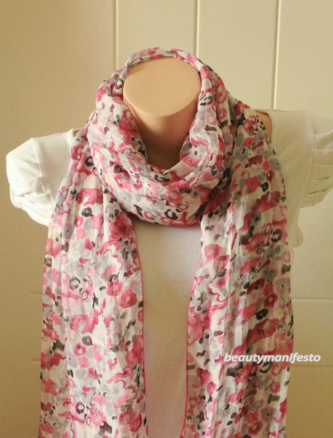 So soft silky floral scarf ,shawl gift ideas for her ruffle scarf , women scarves mothers day gifts,fashion accessories.