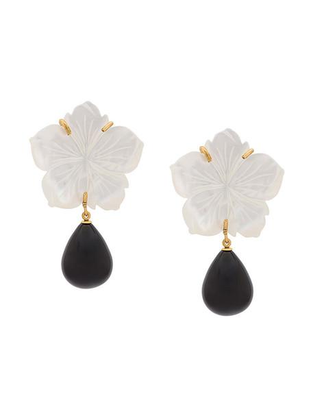 LIZZIE FORTUNATO JEWELS women earrings gold white jewels