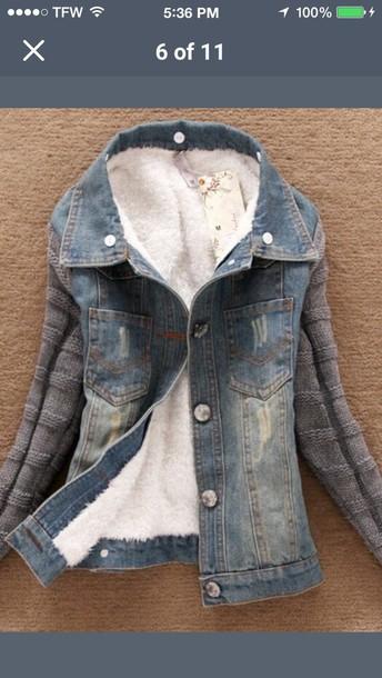 coat jean hoodie