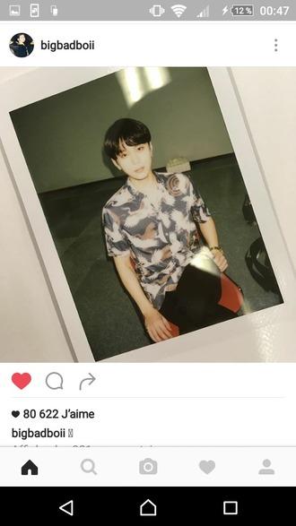 shirt korean fashion korean celebrities japanese asian birds instagram watch gold watch soft japan k-pop kpop