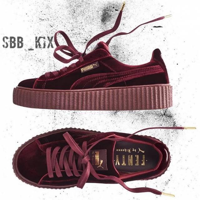 Rihanna x Puma Velvet Creepers Royal Purple Maroon Burgundy 8ab898f21