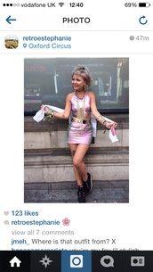 top,skirt,two-piece,coordinated,holographic,pink