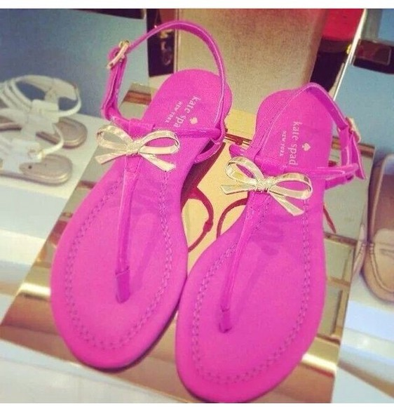 pink shoes bows cute sandals