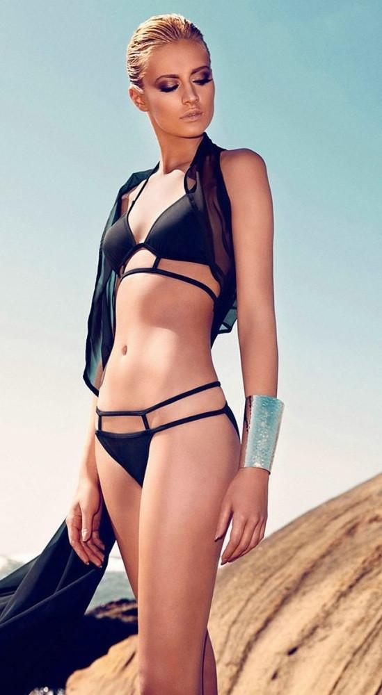 BANDAGE Caged Black Bikini Swimsuit – Glamzelle