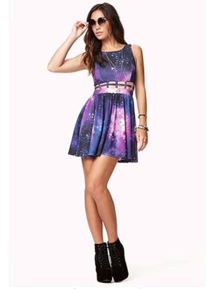 dress galaxy dress caged dress