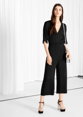 release info on diversified latest designs 50% off & Other Stories   Wide-Leg Jumpsuit   Black