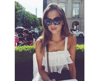 shirt white top white lace top lace top cute top tumblr outfit instagram