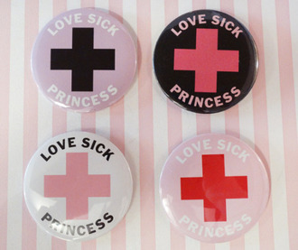 jewels kawaii love love sick pink pastel pastel pink japan pins kawaii grunge pale clothes pins lolita