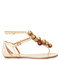 Disco sequinned-pompom suede flat sandals