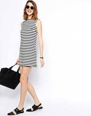 ASOS | ASOS A Line Shift Dress in Stripe at ASOS