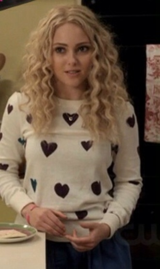 sweater heart sweater annasophia robb