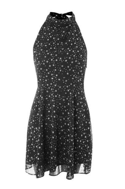 Topshop dress skater dress glitter skater black