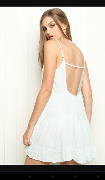 2bb3b18e75ef dress white dress aliexpress aliexpress white brandy melville jada jada dress  summer beach casual backless straps