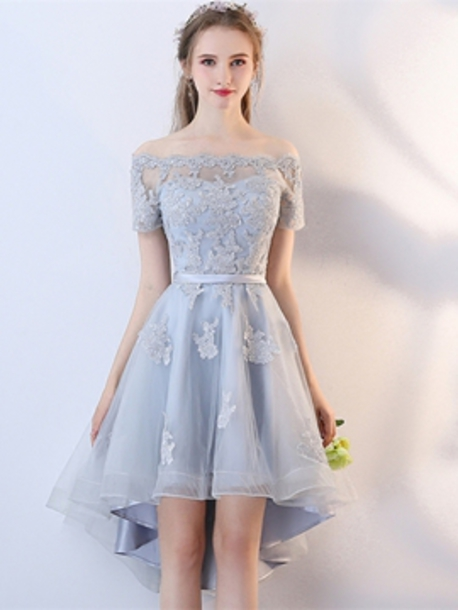 dress lace dress blue dress high low dress