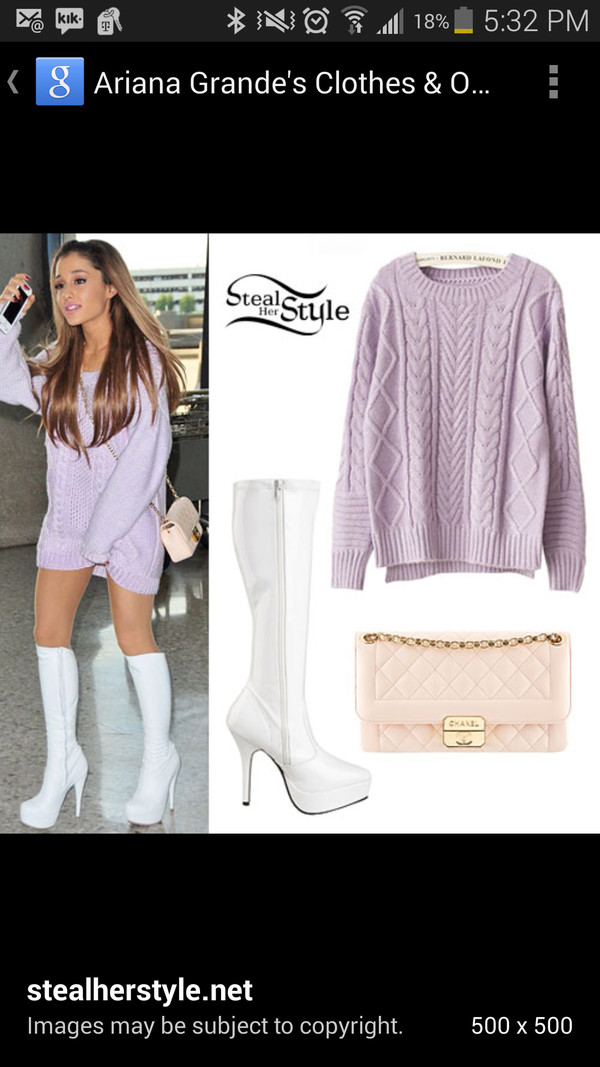 ariana grande dress shoes bag blouse