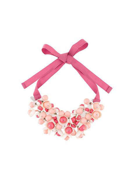 P.A.R.O.S.H. women necklace floral cotton purple pink jewels