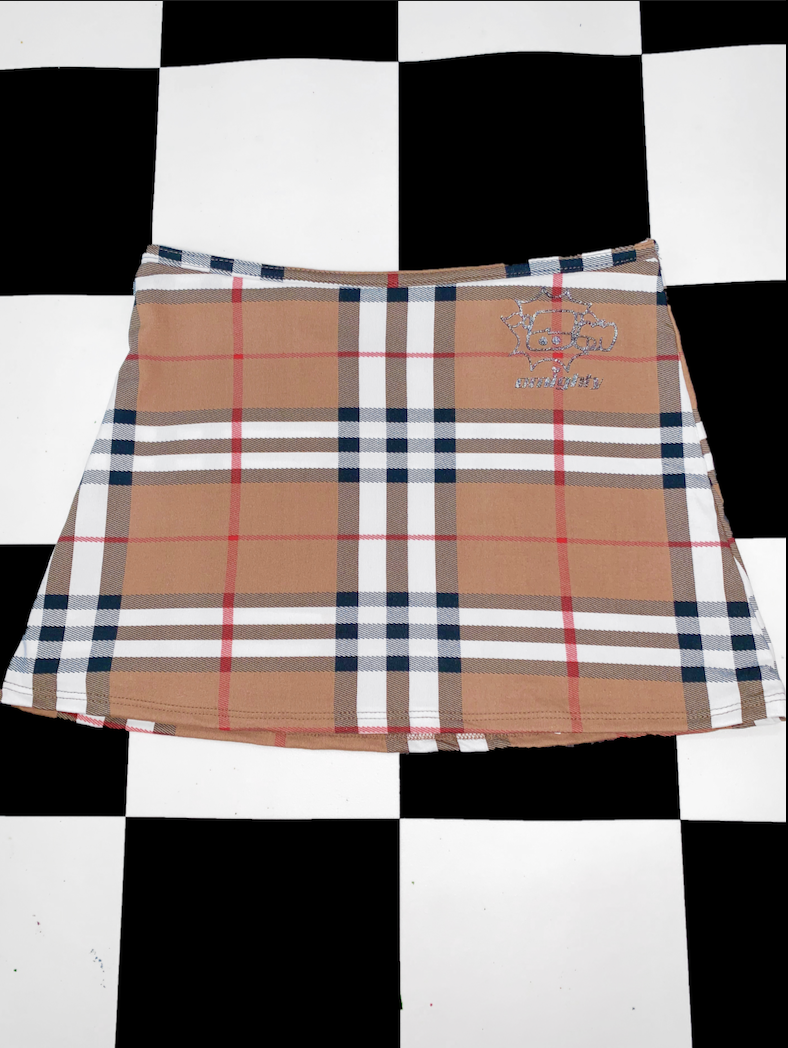 LOW WAIST PLAID SKIRT