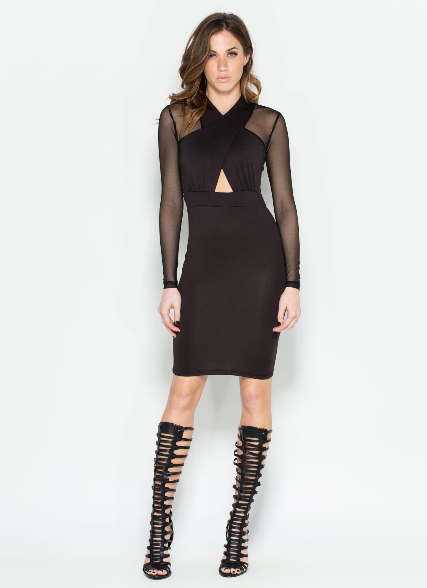 Thing Bodycon Dress BLACK - GoJane.com