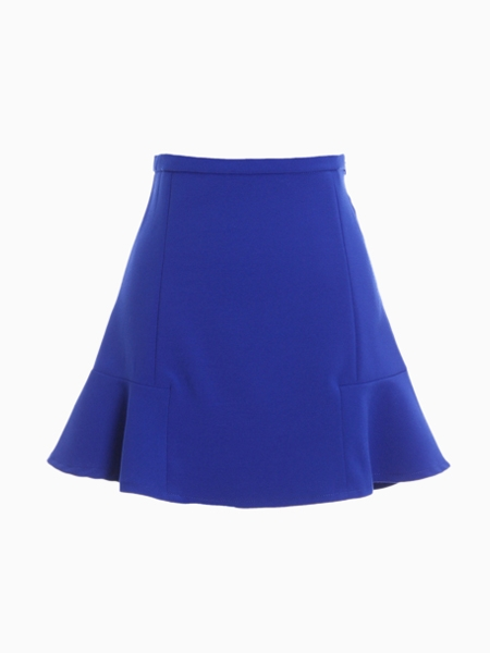 blue high waisted flouncing skater skirt choies