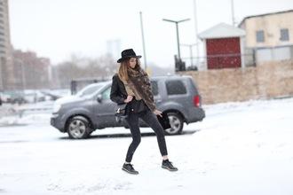 the blonde salad blogger scarf hat shoes jeans jacket bag