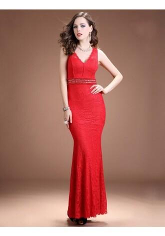 v-neck evening dresses red evening dresses online