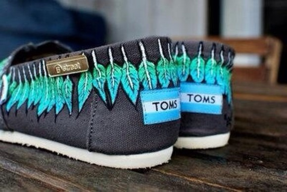 shoes toms shoes with flower