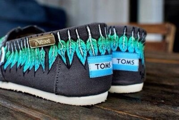 shoes shoes with flower toms