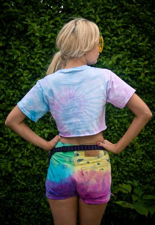 Vintage Levis Neon Tie Dye Rainbow Denim Shorts