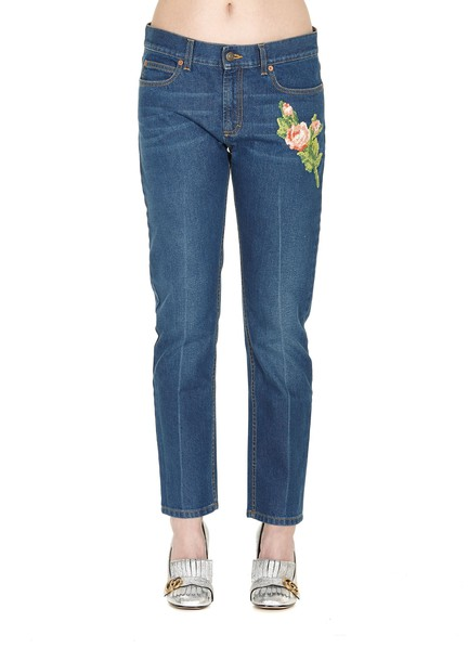 gucci jeans blue multicolor