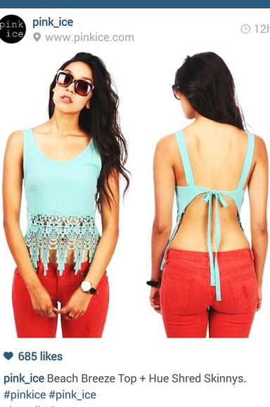 shirt bohemian crop tops crochet tops red jeans boho tops bohemian look cute tops summer tops