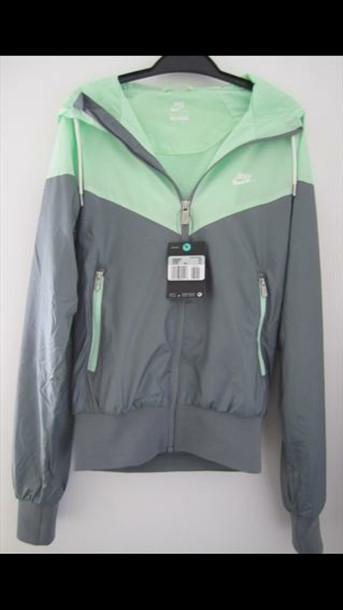 db2a337ad10b jacket windbreaker rain jacket mint nike