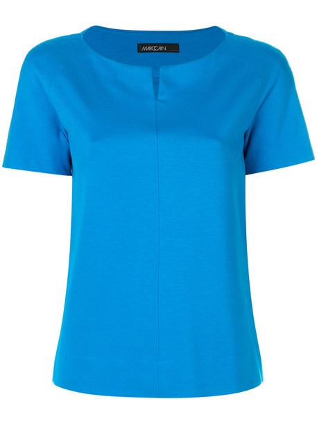 Marc Cain blouse women spandex blue top