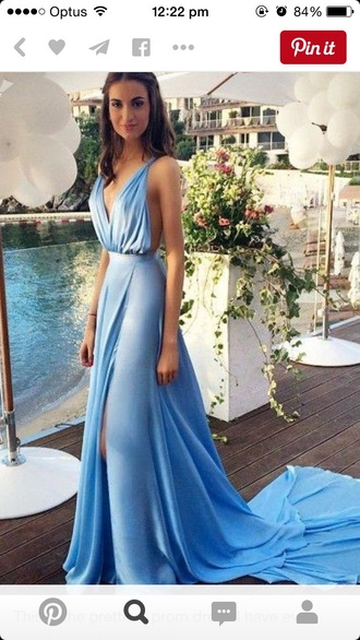dress formal maxi dress blue classy prom