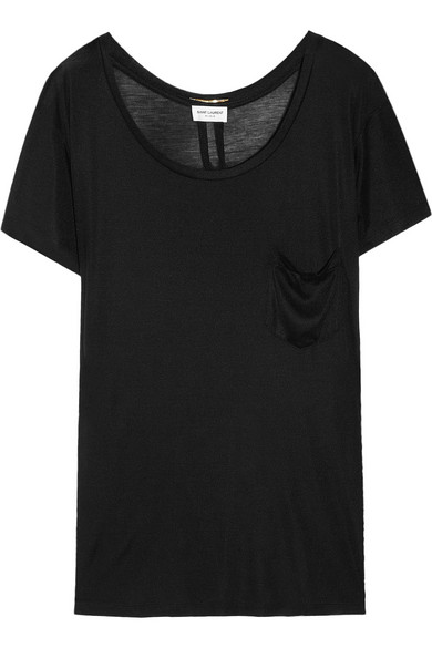 Saint Laurent | Silk-jersey T-shirt | NET-A-PORTER.COM