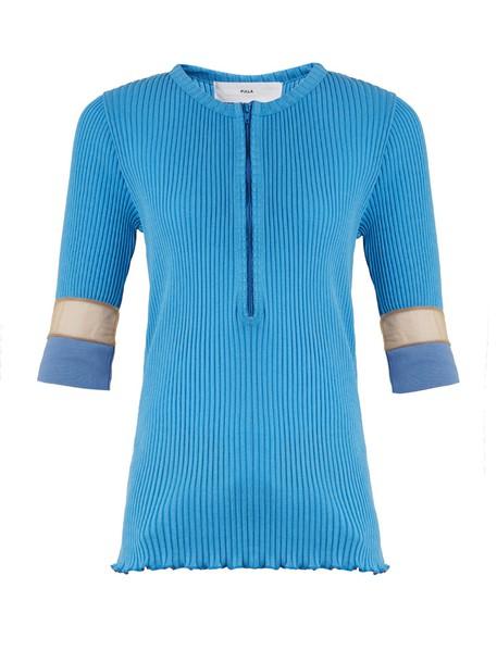 sweater mesh knit light blue light blue