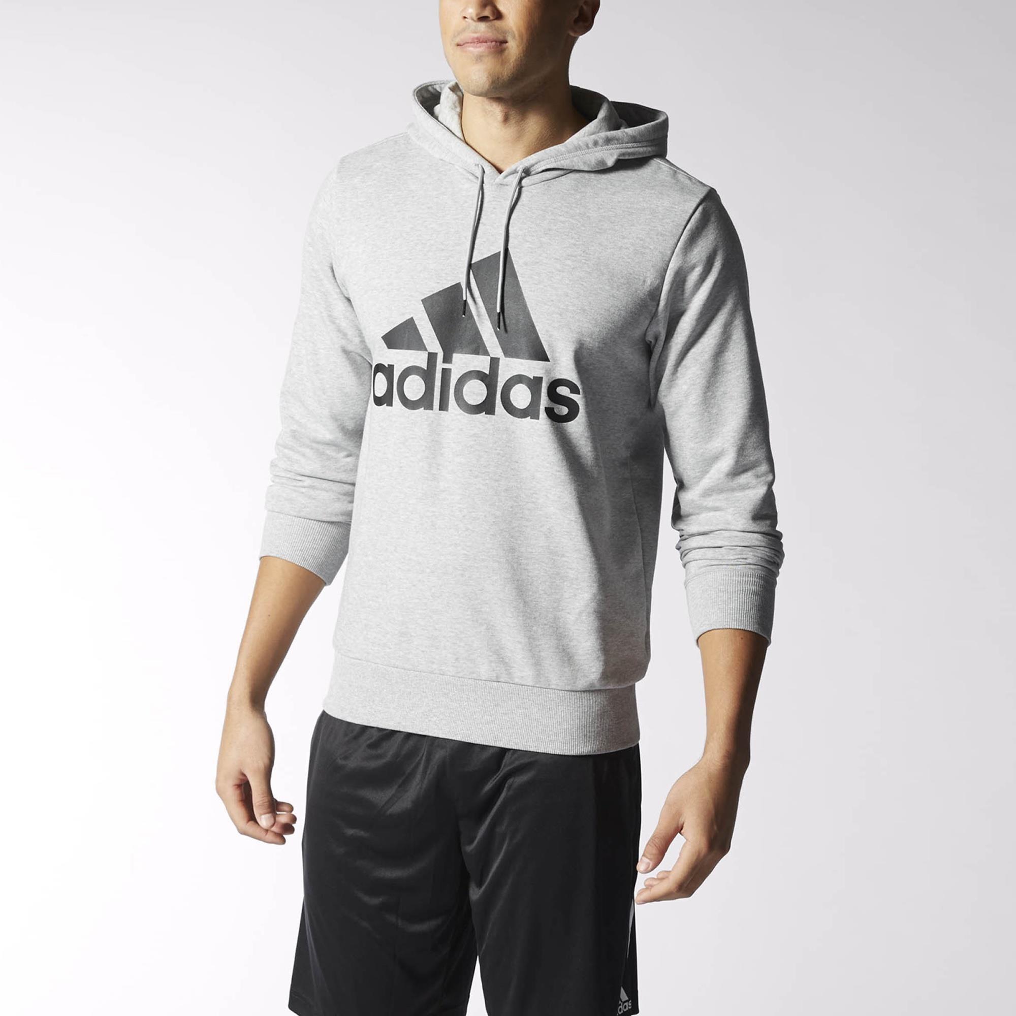 adidas Sport Essentials Logo Hoodie Grey | adidas US