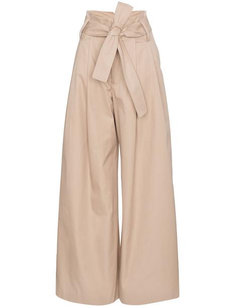 Wright Le Chapelain women nude cotton pants