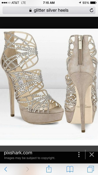 shoes nude heels prom cheap jimmy choo rhinestones