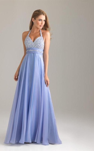 dress prom purple silver sparkle floor lenth lavender halter neck floor lenth dresses