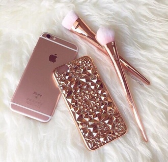 phone cover rose gold cute metal iphone 6 case metallic