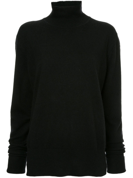 Ck Calvin Klein jumper turtleneck women black sweater