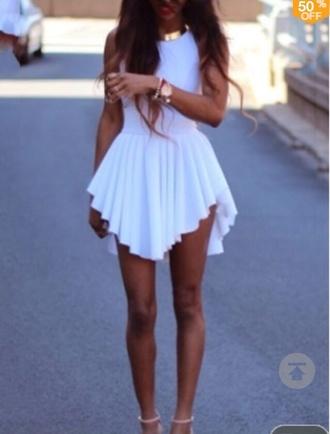 dress white dress high low dress