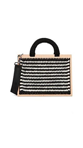 purse white black bag