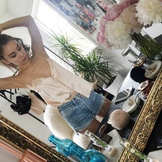 top tops clothes clothings celebrity celebrity style steal pink mirror