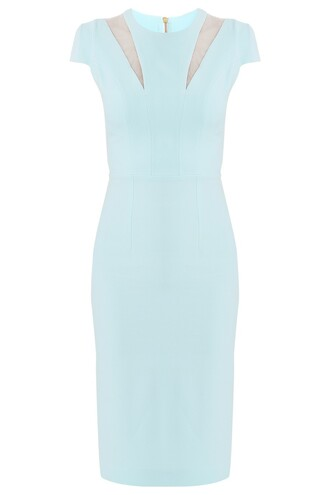dress women long dress safiyaa designer aqua blue