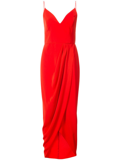 Shona Joy dress women draped red