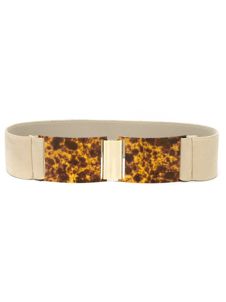 Lilly Sarti - belt - women - Pig Leather - M, Nude/Neutrals, Pig Leather
