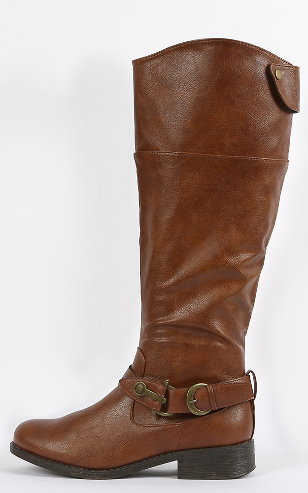 Bamboo Jagger-14 Buckle Riding Boots | MakeMeChic.com