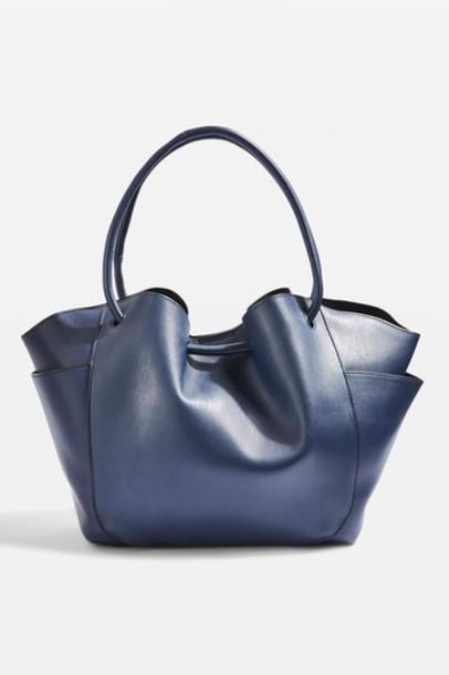 Topshop bag navy blue