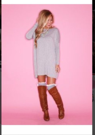 dress cute sweaters knitted cardigan sweater sexy dress casual dress knit pink dress knee high riding boots
